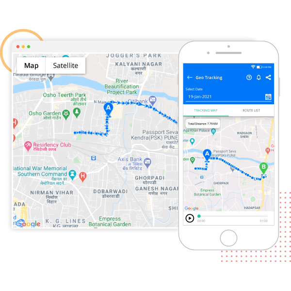 advance geo tracking feature